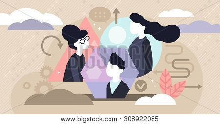 Personality Types Vector Illustration. Flat Tiny Psychological Persons Profile Concept. Extrovert An