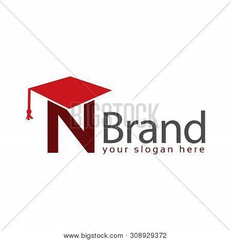 Graduation Logo Stock, Letter N, Education Logo