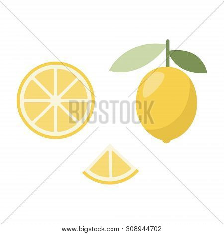 Icon Of Lemon. Fashion Design For Web, Print. Exotic Summer Fruit