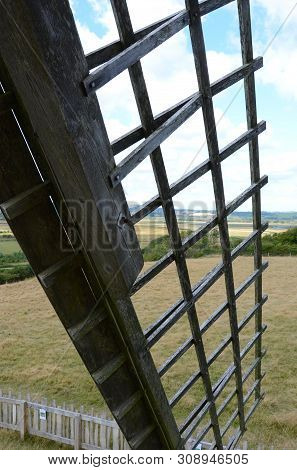 Looking Out Through A Sail Of The Bembridge Windmill, Isle Of Wight