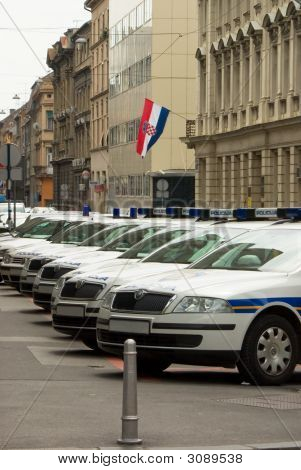 Metropolitan Police Cars On Streets