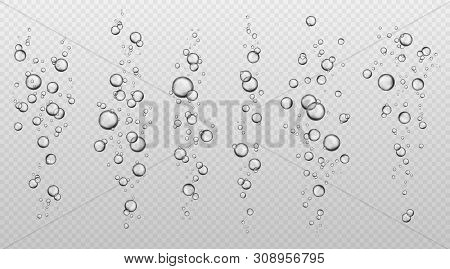Water Bubbles. Abstract Fresh Soda Bubble Groups. Effervescent Oxygen Texture. Underwater Fizzing Ai