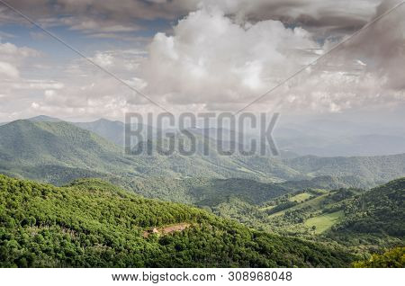 Looking Out Over The Valley From The Roan Mountain Highlands That Straddle The Boundary Of North Car