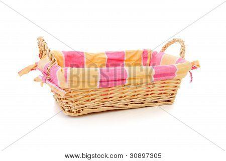 Empty Cane Bread Basket