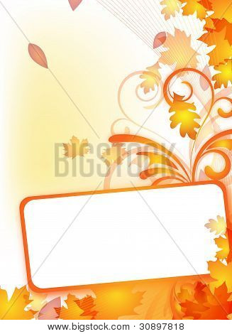 Autumn Flyer With Text Frame