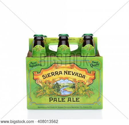 IRVINE, CA - MAY 25, 2014: A 6 pack of Sierra Nevada Pale Ale. Sierra Nevada Brewing Co. was established in 1980 by homebrewers in Chico, California,