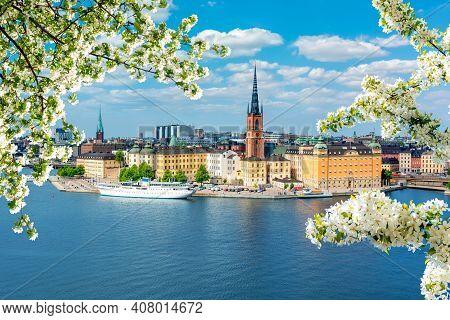 Stockholm Old Town (gamla Stan) In Spring, Sweden