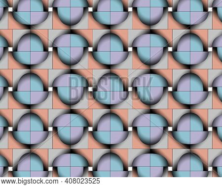 Geometric Pattern Illustration For Decoration In Gradient Colors, Background And Texture