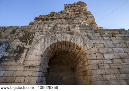 Merida Roman Theatre West Door. One Of The Largest And Most Extensive Archaeological Sites In Europe