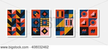Poster Graphic Geometrical Shapes Design Trendy Artwork. Beautiful Pattern Graphic Illustration. Vec