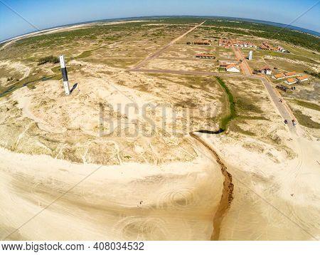 Village, Lighthouse, Dunes, Vegetation In Quintao, Palmares Do Sul, Rio Grande Do Sul, Brazil