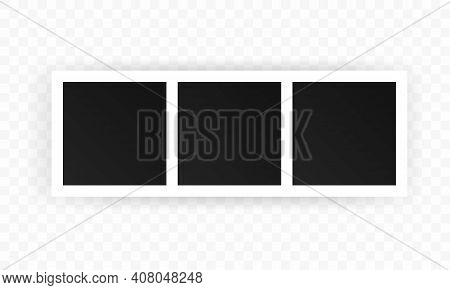 A Collection Of Blank Photo Frames. Empty Framing For Your Design. Vector Template For Picture, Pain