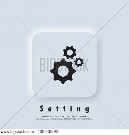 Account Settings. Gear Icon. Gear Settings Icons. Cogwheel Logo. Vector Eps 10. Ui Icon. Neumorphic