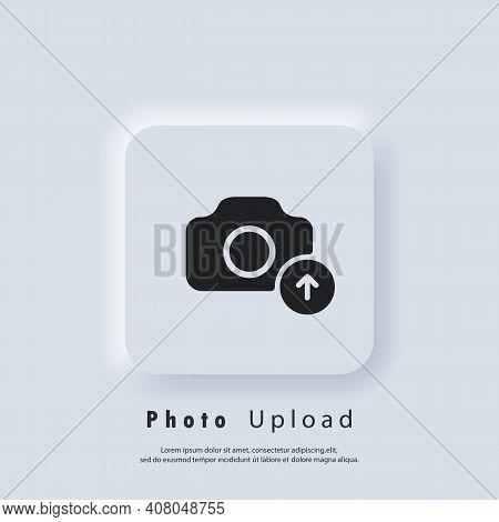 Photo Upload Icon. Picture Flat Icons. Uploading Your Photo Logo. Camera Sign. Vector Eps 10. Ui Ico