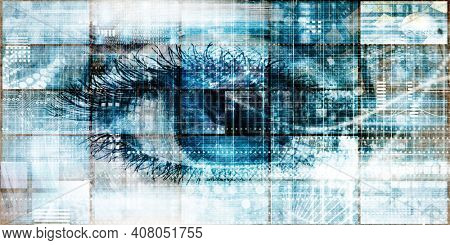 Data Security Center Technology Analytics Abstract Background 3d Render