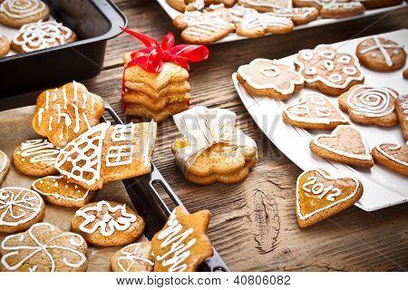 Varoius Homemade Gingerbread