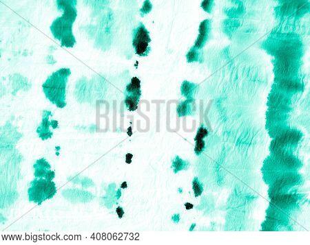 Turquoise Tie Dye Texture. Watercolour Blots. Paintbrush Wallpaper. Neo Mint Vintage Wrinkled Paper.