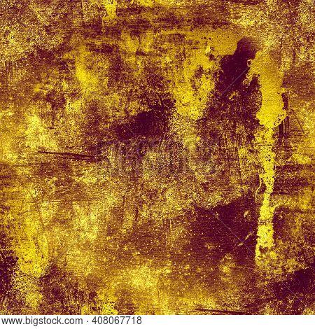 Rough Old Dirty Texture. Vintage Crack Wallpaper. Art Distress Background. Retro Grain Pattern. Grun