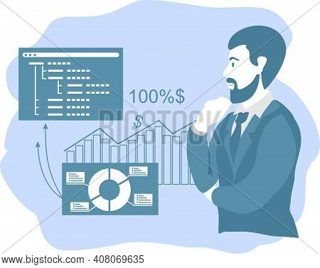 Enterprise Strategy Development Abstract Concept. Business Intelligence And Business Rule, Big Data