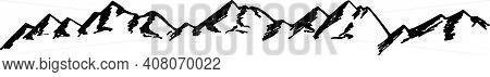 Black Mountain Nature Vintage Company Logo Stamp. Simple Modern Mountain Logo Design Vector. Mountai