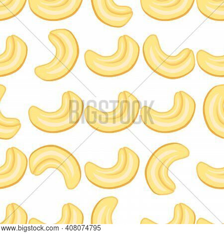 Illustration On Theme Big Pattern Identical Types Cashew, Nut Equal Size. Cashew Pattern Consisting