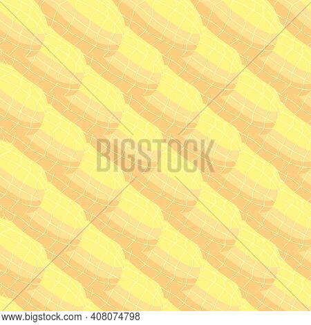 Illustration On Theme Big Pattern Identical Types Peanut, Nut Equal Size. Peanut Pattern Consisting