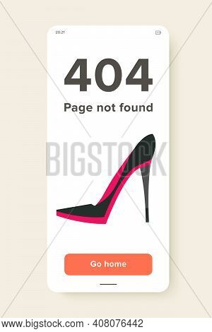 Vector Icon Of Female High Heel Shoe. Stiletto Heel, Footwear, Style. Fashion Show Concept. Can Be U