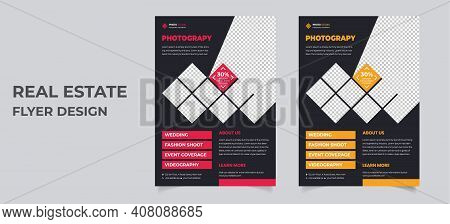 Photography Photograph Flyer Business Brochure Flyer Design Layout. Smartphone Icons Mockup. Applica