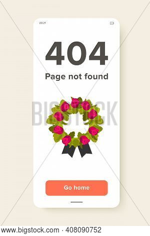 Icon Of Funeral Wreath. Flower, Cemetery, Burial. Funeral Service Concept. Can Be Used For Topics Li