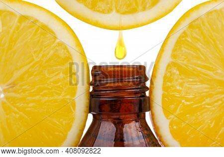 Orange Essential Oil. Essential Oil With Lemon, Natural Remedies. Natural Remedies, Drop Vitamin C.