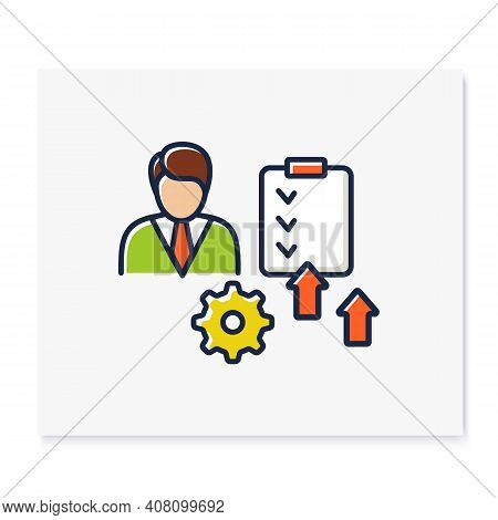 Personal Development Plan Color Icon. Personal Growth Concept. Self Improvement And Self Realization