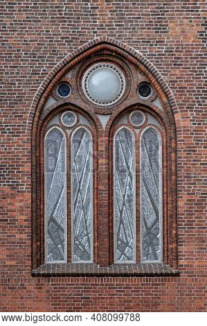 Gothic Window Of The Cathedral In The Old City. Riga.