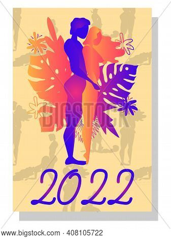 Concept Calendar For 2022. Beautiful Couples For Every Month Of The Year, Relationships, Family, Kam