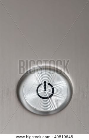 Silver Laptop Off Button.
