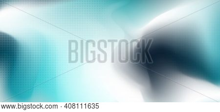 Abstract Sea Colors Of Mesh Template Background. Tech Design With Circle Halftone Elements Pattern A