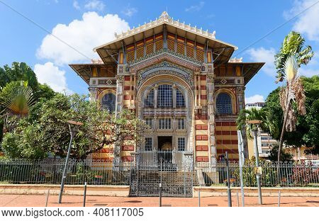 The Schoelcher Library., Fort De France City, Martinique Island, French West Indies.