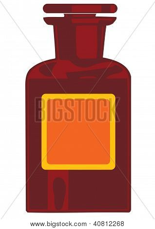 Vector Illustration A Bottle With Medicines
