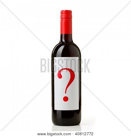 Bottle of red wine noname firm