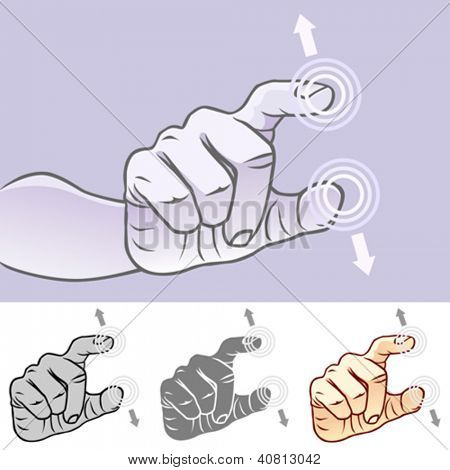 Multi-touch Hand Gestures For Smart-phone, Tablet And Pad- UnPinch