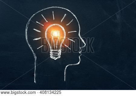 Idea Concept With Innovation And Inspiration, Style Symbol Of Creativity, Brainstorm, Creative Idea,
