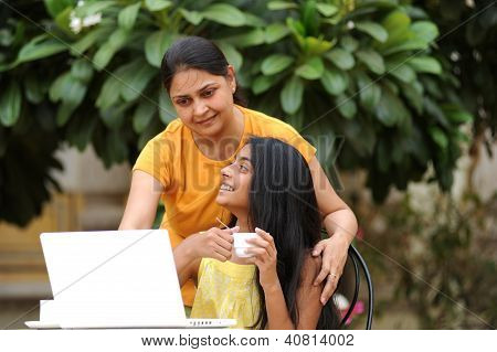Indian loving mother daughter