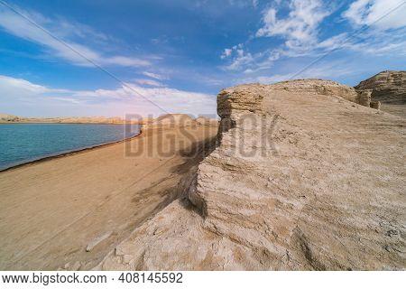 Water Yardang landform Geopark at Qinghai China