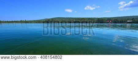 Panorama Of Eagle Harbor State Harbor In The Keweenaw Peninsula Of Michigan
