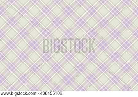 Beige Gray White Lilac Vintage Checkered Background. Space For Graphic Design. Checkered Texture. Cl