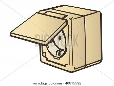 Vector Illustration The Electric Socket