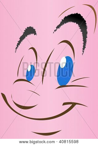 Vector Illustration A Smiling Face