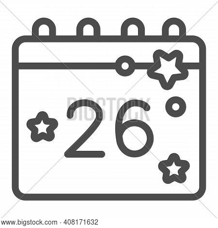 Calendar With Thanksgiving Day Line Icon, Thanksgiving Day Concept, Twenty Eighth Of November Date S