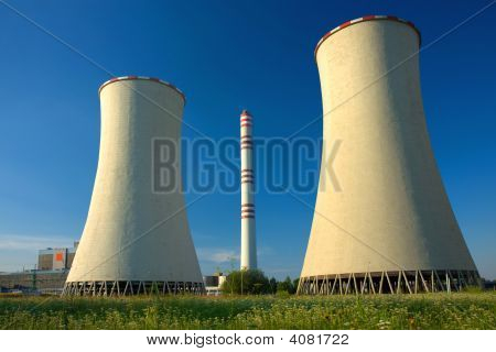 Two Cooling Towers Of Nuclear Power Plant
