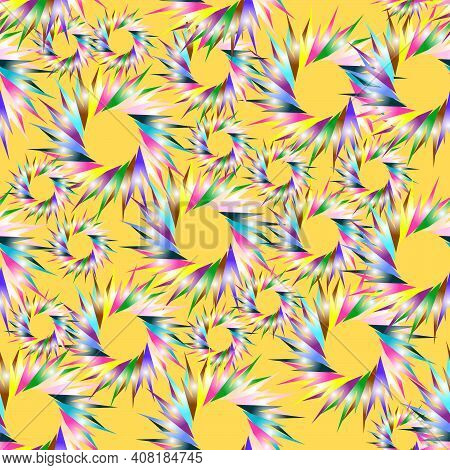 Decorative Wrapping Paper In Sparks Multicolor Seamless Pattern