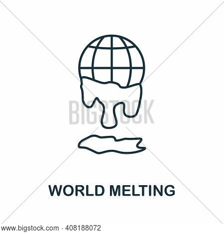 World Melting Icon. Simple Element From Global Warming Collection. Creative World Melting Icon For W